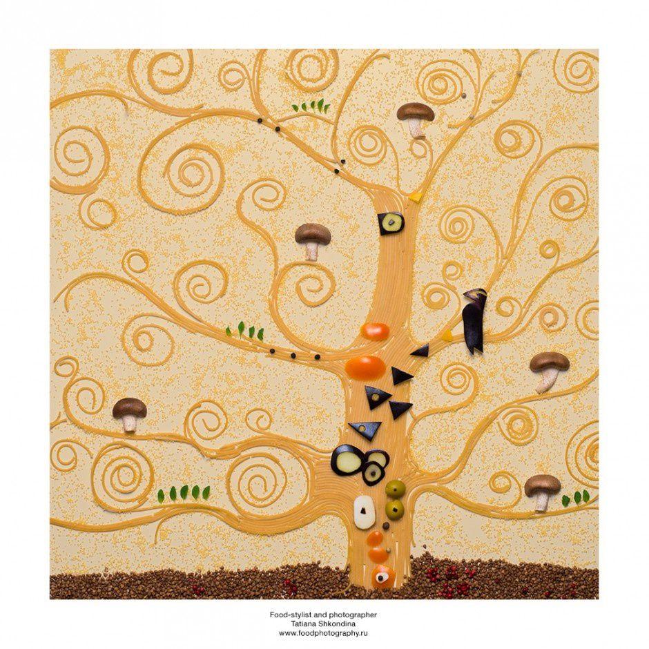 L'arbre de vie - Gustave Klimt (pâtes et légumes variés)
