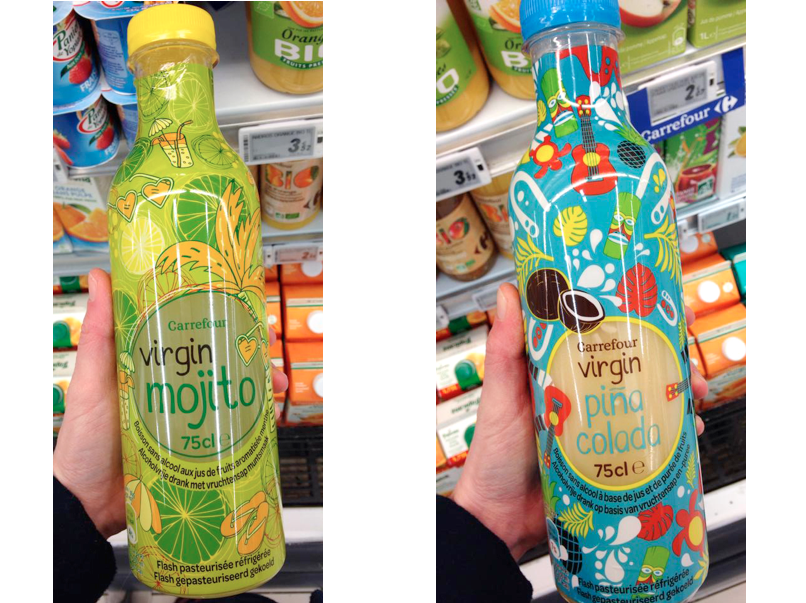 Virgin mojito & Virgin pina colada | Carrefour