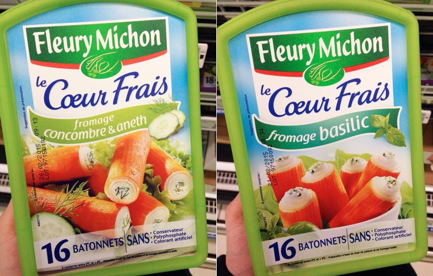 Surimi Le Cœur Frais (chèvre / fromage ail & fines herbes / fromage concombre & aneth / fromage basilic) | Fleury Michon