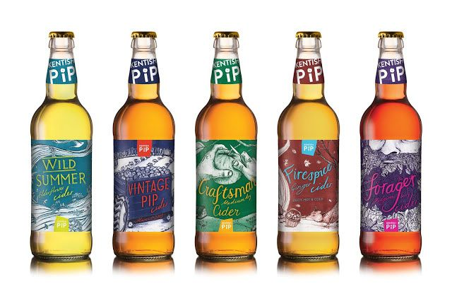 Kentish Pip Cider (cidre) | Design : Kingdom & Sparrow, Royaume-Uni (février 2015)