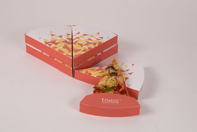 Toss (pizza à la part) | Projet étudiant : Yinan Wang (Maryland Institute College of Arts), Baltimore, Etats-Unis (mars 2015)