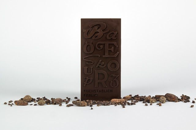 Typographic Chocolate | Projet étudiant : Lisa-Marie Peters & Christian Pannicke (University of Applied Sciences Berlin), Berlin, Allemagne (mars 2015)