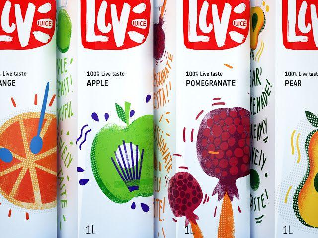 LIVE Juice (jus de fruits) | Design : Rushavel Sultanov, Moscou, Russie (avril 2015)