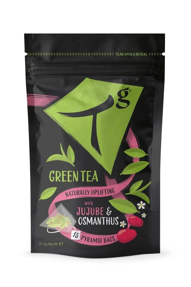 Tg Green Tea (thé vert) | Design : Peter Gibbons, Londres, Royaume-Uni (mai 2015)