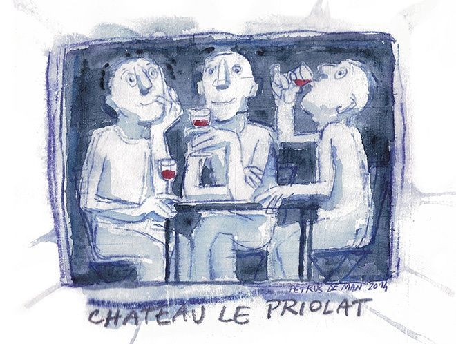 Chateau Le Priolat (vin) | Design : lasuite atelier, Bordeaux, France (mai 2015)