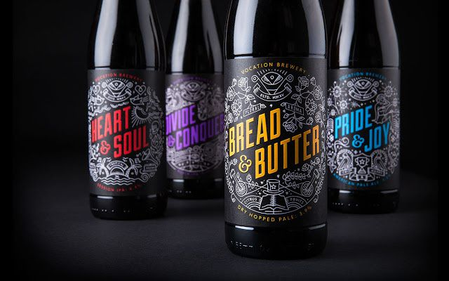 Vocation Brewery (bière) | Design : Robot Food, Leeds, Royaume-Uni (mai 2015)