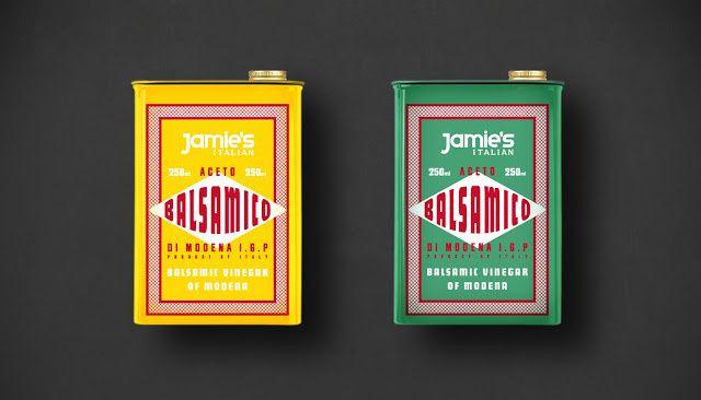Jamie's Italian Deli Range - Jamie Oliver (produits italiens d'épicerie fine) | Design : The Plant London, Londres, Royaume-Uni (juin 2015)