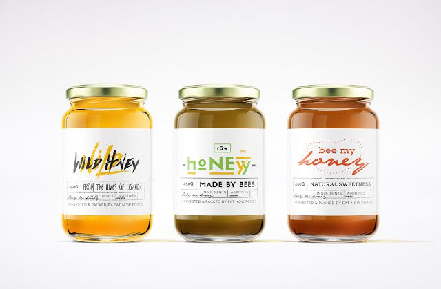 Wild Raw Honey - Eat now foods Uganda (miel bio) | Design : Derrick Egessa, Kampala, Uganda (juin 2015)