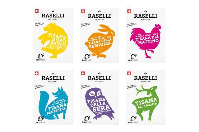Raselli Erboristeria Biologica (thé bio à base de plantes des Alpes) | Design : Plasmadesign Studio, Zürich, Suisse (juin 2015)
