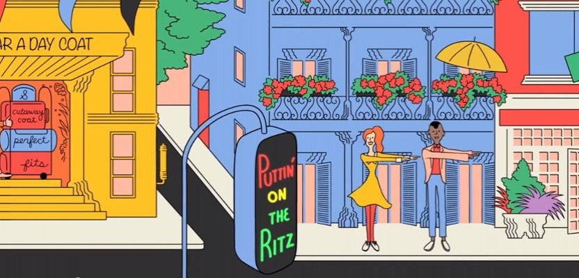 &quot&#x3B;Puttin'on the Ritz&quot&#x3B;, un joli film d'animation pour les biscuits apéro Ritz !