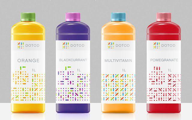 DOTOD (jus de fruits)   Design : Ramin Nasibov, Berlin, Allemagne (juillet 2015)