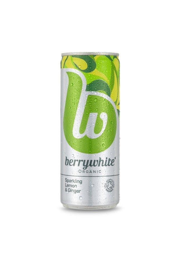 Berrywhite organic drinks (sodas aux fruits bio) | Design : jkr, Londres, Royaume-Uni (juillet 2015)
