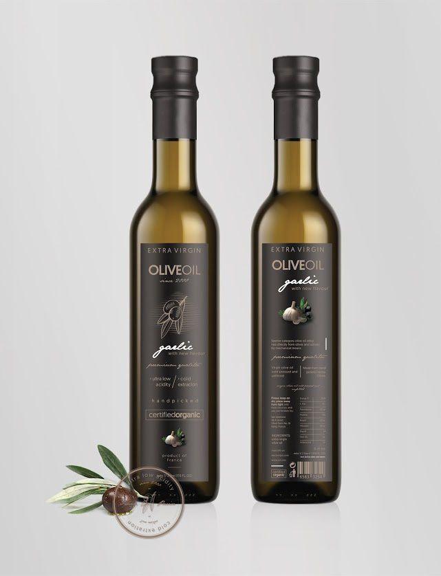 Extra Virgin Olive Oil (huile d'olive)   Design (projet étudiant) : Jovana Jankovic (FILUM), Kragujevac, Serbie(juillet 2015)