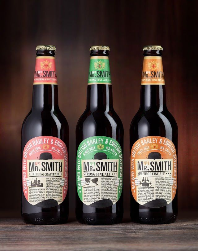 Mr. Smith (bière) | Design : Viewpoint, Moscou, Russie (juillet 2015)