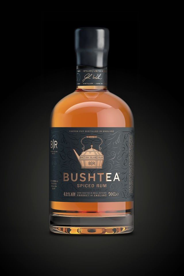 Bushtea - British Island Rum Co. (rhum) | Design : KCD, Londres, Royaume-Uni (juillet 2015)