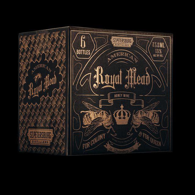 American Royal Mead (hydromel à partir de miel 100% bio) | Design : Dunn&CO., Etats-Unis (juillet 2015)