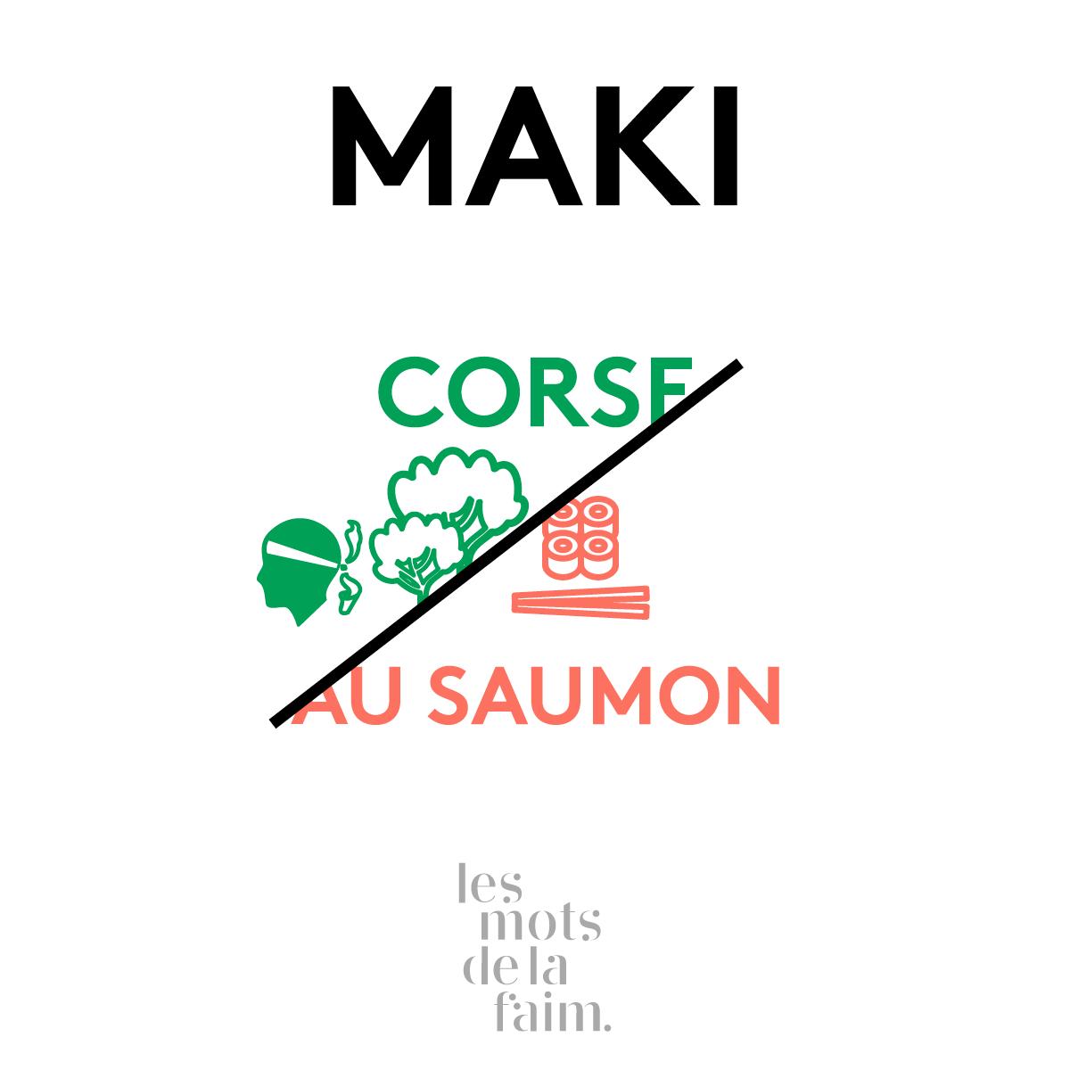 Prendre le maki avec des baguettes - © Les mots de la faim