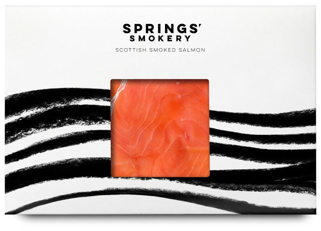 Springs' Smokery (saumon fumé) | Design : Distil Studio, Royaume-Uni (août 2015)