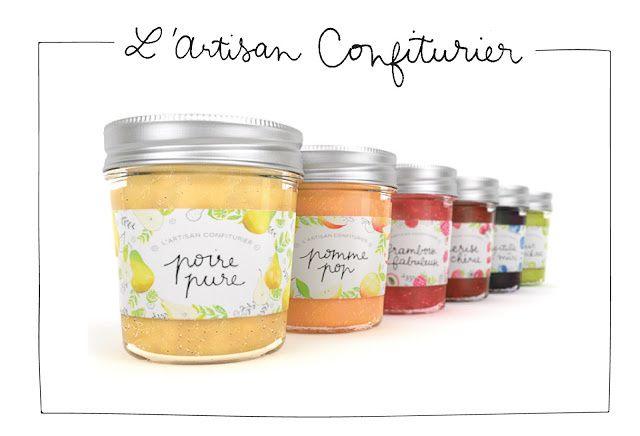L'Artisan confiturier (marque fictive française de confitures) | Design (concept) : Studio Kalumi, Barcelone, Espagne (août 2015)