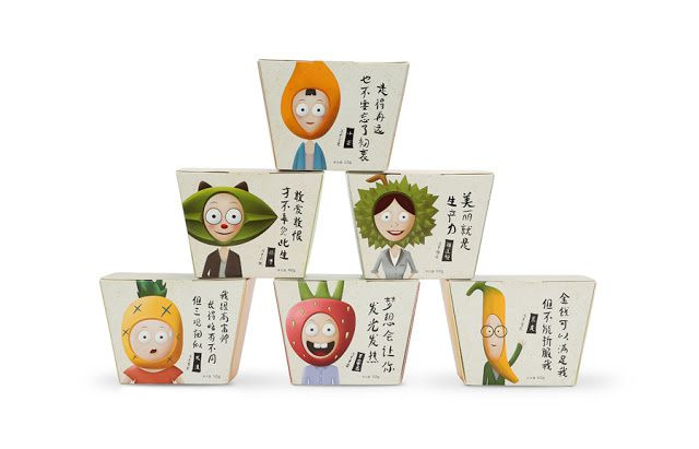 Four Seasons (fruits) | Design : Dowell Brand Design, Chine (août 2015)