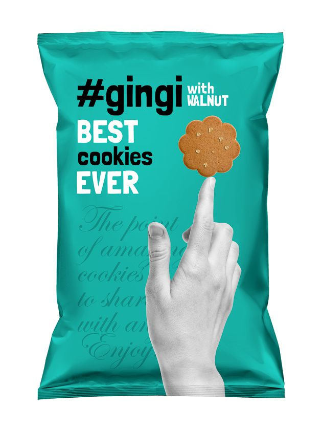 Gingi Foods (cookies) | Design : MAISON D'IDÉE, République Tchèque (septembre 2015)