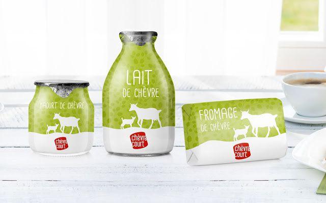 Chèvre Court (produits au lait de chèvre) | Design : MAISON D'IDÉE, République Tchèque (octobre 2015)