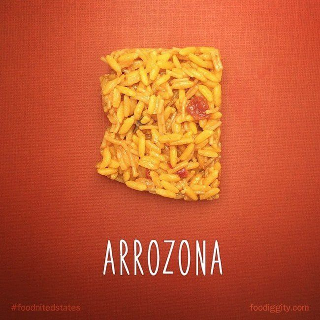 "Arizona | ""The Foodnited States of America"" par Foodiggity"