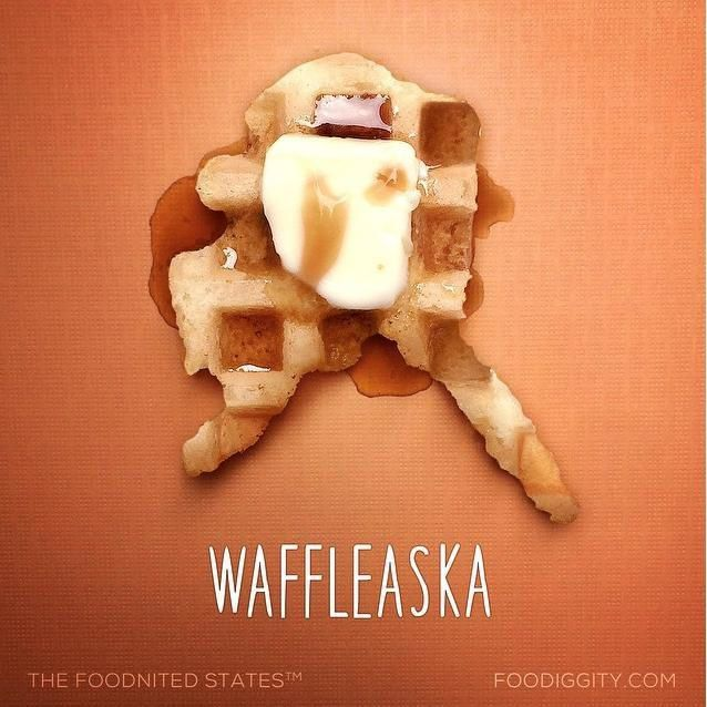 "Alaska | ""The Foodnited States of America"" par Foodiggity"