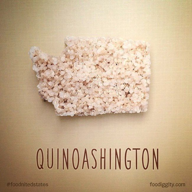 "Washington | ""The Foodnited States of America"" par Foodiggity"