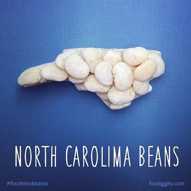 "North Carolina | ""The Foodnited States of America"" par Foodiggity"