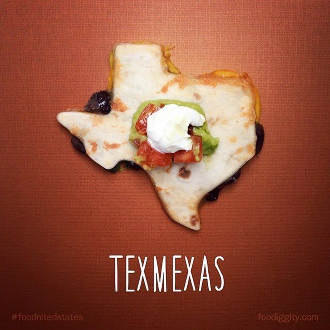 "Texas | ""The Foodnited States of America"" par Foodiggity"