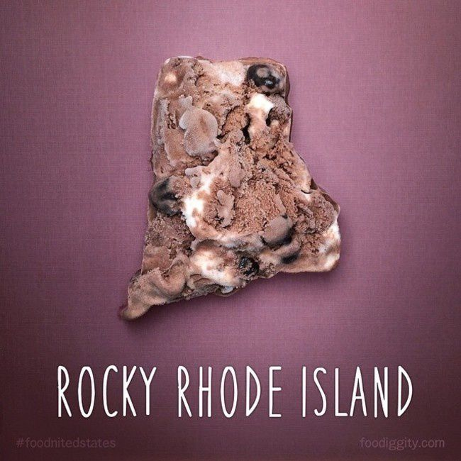 "Rhode Island | ""The Foodnited States of America"" par Foodiggity"
