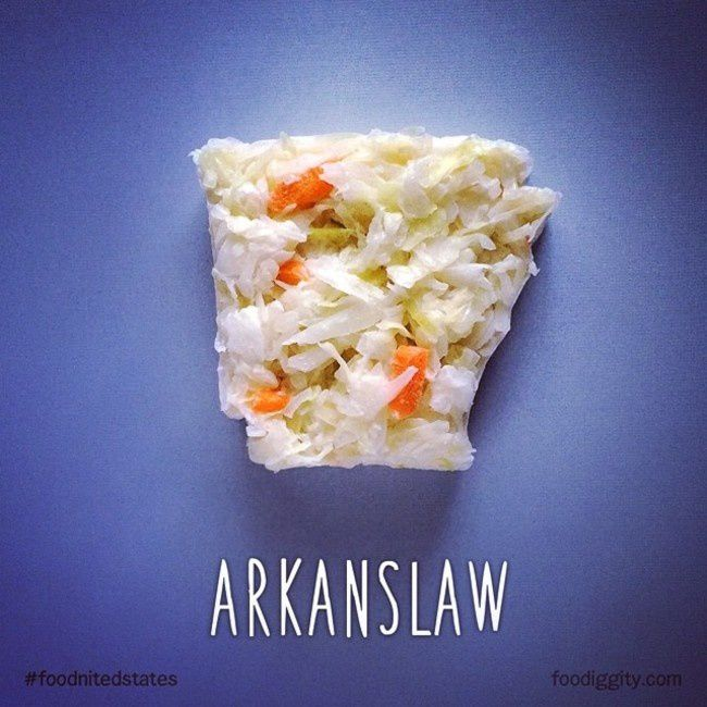 "Arkansas | ""The Foodnited States of America"" par Foodiggity"