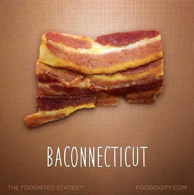 """Connecticut   """"The Foodnited States of America"""" par Foodiggity"""