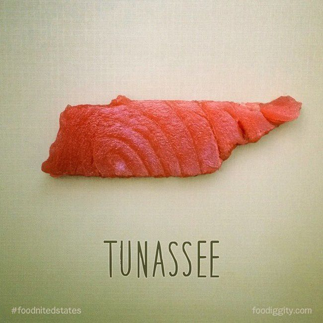 """Tennessee   """"The Foodnited States of America"""" par Foodiggity"""