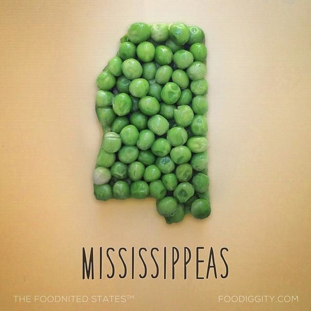 """Mississipi   """"The Foodnited States of America"""" par Foodiggity"""