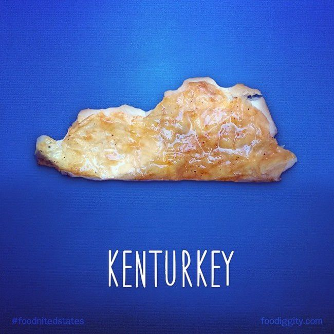 "Kentucky | ""The Foodnited States of America"" par Foodiggity"