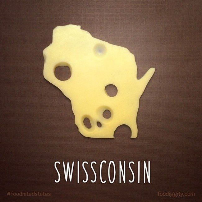 """Wisconsin   """"The Foodnited States of America"""" par Foodiggity"""