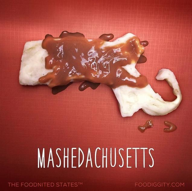 "Massachusetts | ""The Foodnited States of America"" par Foodiggity"