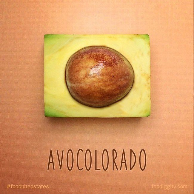 """Colorado   """"The Foodnited States of America"""" par Foodiggity"""