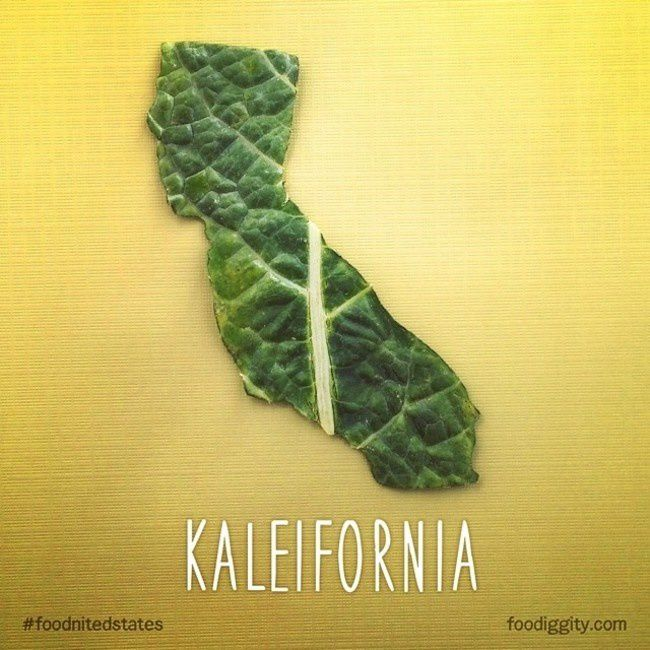 """California   """"The Foodnited States of America"""" par Foodiggity"""