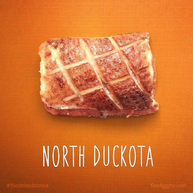 "North Dakota | ""The Foodnited States of America"" par Foodiggity"