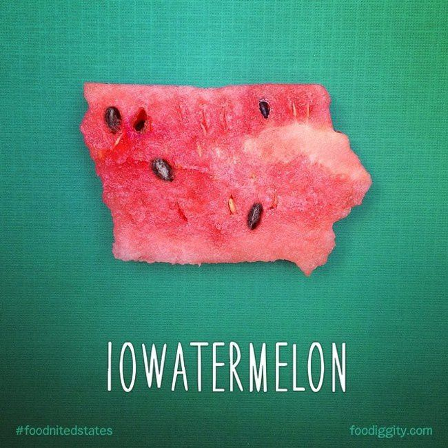 "Iowa | ""The Foodnited States of America"" par Foodiggity"