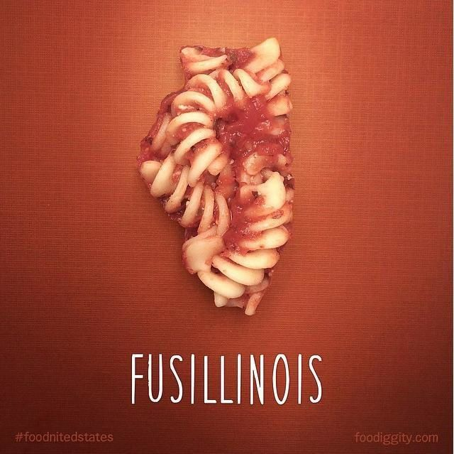 "Illinois | ""The Foodnited States of America"" par Foodiggity"