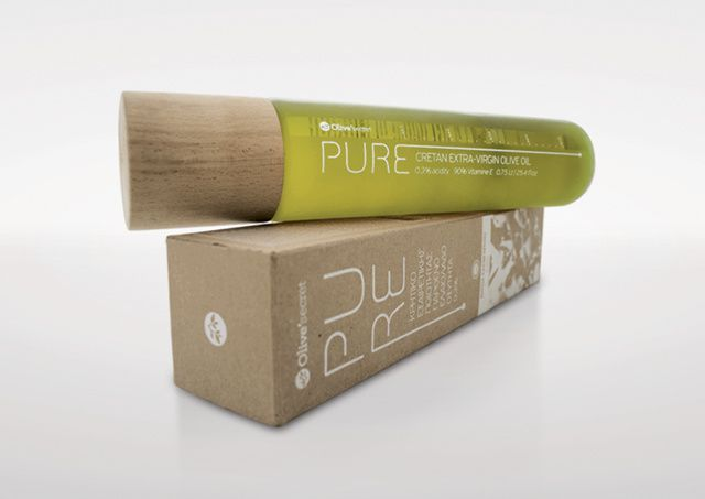 Pure - Olive'secret (huile d'olive bio) | Design : Dot Creative Studio, Héraklion, Grèce (octobre 2015)