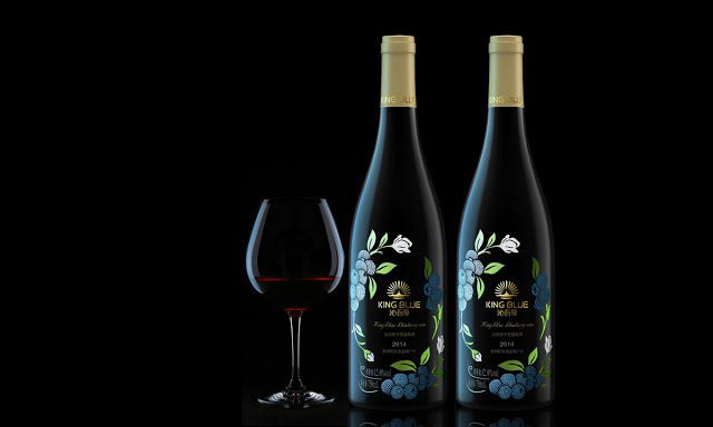 King Blue (vin de myrtille) | Design : Pesign, Shenzhen, Chine (octobre 2015)