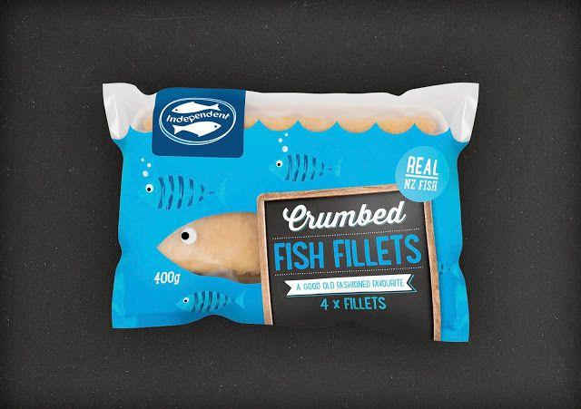 Independent Fisheries (poisson surgelé) | Design : Plato Creative, Christchurch, Nouvelle-Zélande (novembre 2015)