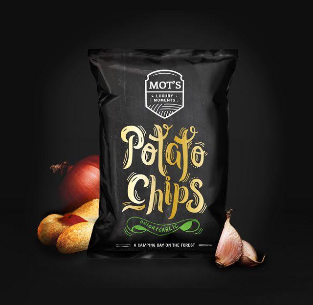 Mot's (chips de pomme de terre) | Design : Mara Rodríguez Design, Espagne (novembre 2015)