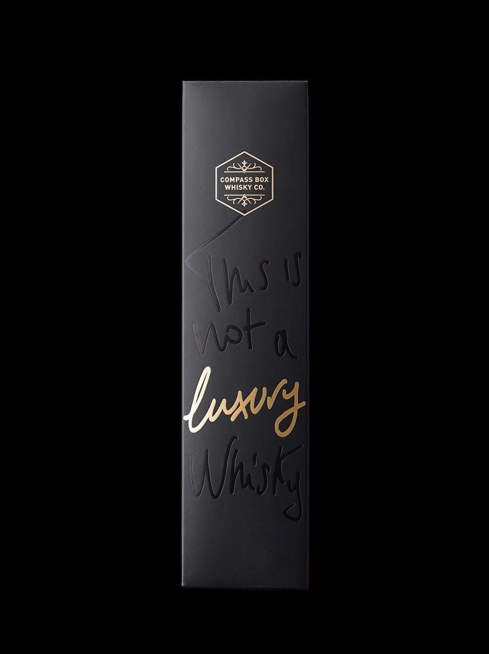 This is not a Luxury Whisky… or is it ? (whisky) | Design : Stranger & Stranger, New-York, Etats-Unis (novembre 2015)