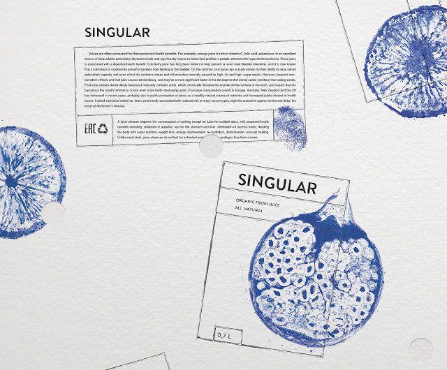 SINGULAR (jus de fruit) | Design : Nikita Ivanov, Moscou, Russie (novembre 2015)